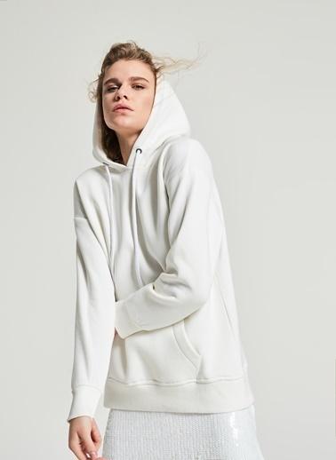 Pi π Basic Oversize Sweatshirt Beyaz
